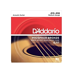 DA5004 D'Addario EJ17 Medium Gauge Acoustic Guitar Strings, .013 - .056
