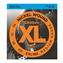 DA5020 D'Addario EXL160 Electric Bass 4 Medium Gauge Strings