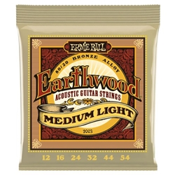 EB5127 Ernie Ball 2003 Earthwood Acoustic Guitar Strings Med. Light, .012/.054