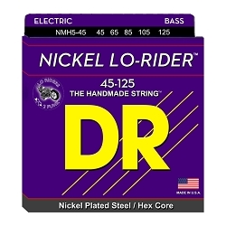 5258 DR NMH5-45 Nickel Lo-Rider (5) Bass Strings, .045-.125