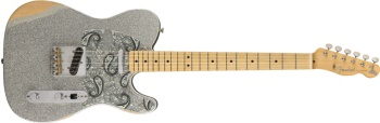 0145902317 Fender Brad Paisley Road Worn Telecaster - Silver Sparkle, Electric Guitar