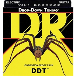 7801 DR Strings Drop Down Tuning Medium 7-String Electric Guitar Strings (10-56) DDT-7/10
