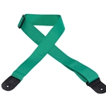 5204 Levy's M8 POLY GREEN 2 Inch Guitar Strap