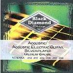 BD5389 Black Diamond Silver Platted Medium Acoustic Strings .013-.056