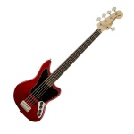 329000538 Fender Squier Modified Jaguar 5 Sting Bass V, Crimson Red Transparent