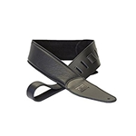 4313 DR 500BK Black Leather Guitar Strap