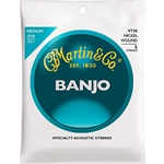3343 Martin V730 Medium 10 Nickel Wound 5 String Banjo Strings