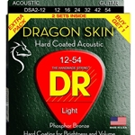 5290 DR DSA 2-12 Dragon Skin Acoustic Guitar Strings