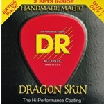 5288 DR DSA 2-10 Dragon Skin Acoustic Guitar Strings, .010 - .048, 2 Sets