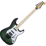 2913052587 Jackson X Series Signature Adrian Smith SDXQ Electric Guitar Transparent Green
