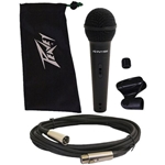 00577810 Peavey PVi 100 1/4 Cable PV Series Dynamic Cardiod Mic with Pouch