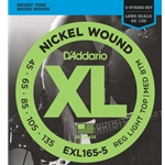 5412 D'Addario EXL165-5 Bass Strings (5) .045 - .135