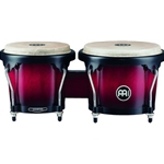 "4030 Meinl HB100WRB 6-3/4 + 8"" Wood Bongo, Vintage Red Burst"