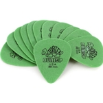 Dunlop 412P.88 .88MM Sharp Green Tortex Picks, 12 Pack