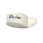 Dunlop 9013R  Lefty White Large thumb picks, 12 pack