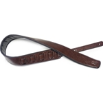 STAGG 6139 Brown padded leatherette guitar strap