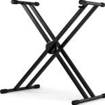 7505 Nomad NKS-K139 Double X-Style Keyboard Stand with Lever Action
