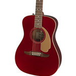 0970722009 Fender Malibu Player Acoustic Electric Guitar, Candy Apple Red