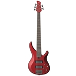 ZG35310 Yamaha TRBX305 5-String Electric Bass Candy Apple Red Rosewood Fretboard