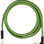 0990918062 Fender 18.6 Ft Festival Green Hemp Instrument Cable 1/4 x 1/4 Straight