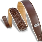 LEVY'S M26VCPBRNMUS Levy's Vinyl Guitar Strap - Brown/Mustard