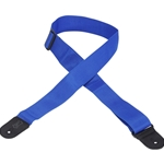 "LEVY'S  Levy M8POLY-ROY 2"" Poly Guitar Strap with Leather Ends, Blue"