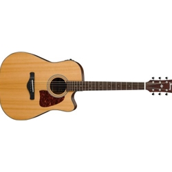 5318 Ibanez AW450CENT Acoustic/Electric Guitar, Solid Top Natural Finish