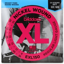 D'Addario EXL150 Electric 12 String Guitar Strings, regular Light, .010 - .046