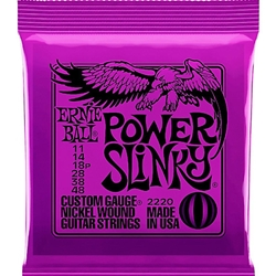 EB5039 Ernie Ball 2220 Power Slinky Electric Guitar Strings, .011 - .048
