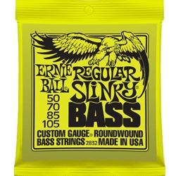 P02832 Ernie Ball 2832 Regular Slinky Bass Strings (4), .050 - .105