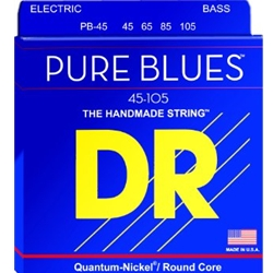 DR5067 DR PB-45 Pure Blue Quantum Nickel 4 String Bass Strings, 45-105