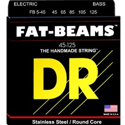 DR5068 DR FB5-45-125 Fat Beams Stainless Steel 5 String Bass Strings, .045 - .125