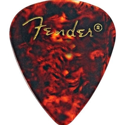 5640 Fender Classic Celluloid Heavey 351 Picks, 12 Pack