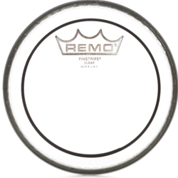 "3049 Remo PS-0314-00 Batter, Pinstripe, Clear, 14"" Head"