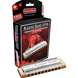 4137 Hohner Marine Band 1896 Key of D Harmonica
