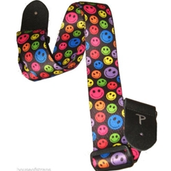 "Perri Leather 5539 Perri's LPCP-6566 2"" Polyester Smiley Guitar Strap"