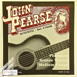 3340 John Pearse Medium 700M Acoustic Guitar Strings