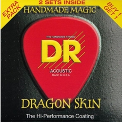 5288 DR DSA 10-48 2 pack Dragon Skin Acoustic Guitar Strings