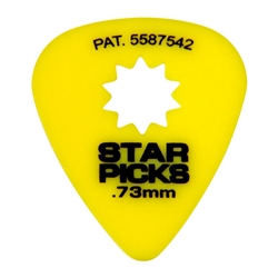 everly  (Clear) 3462 Star Picks 30023 .73 Medium Yellow Pick, 12 Pack