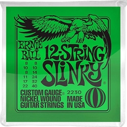 3456 Ernie Ball 2230 12-String Slinky 8-40 Nickel Wound Electric Guitar Strings