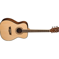 6155 Washburn AF5K Acoustic Guitar Natural Rosewood Fretboard Select Spruce, With Case
