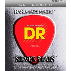 8004 DR Silver Stars Acoustic Strings Light 12-54