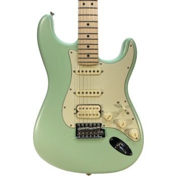 0114922357 Fender American Performer Stratocaster HSS, Maple Fingerboard, Satin Surf Green