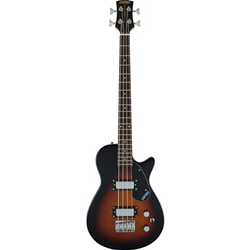 2514730552 Gretsch G2220 Electromatic Junior Jet Bass II Short-Scale, Black Walnut Fingerboard, Tobacco Sunburs