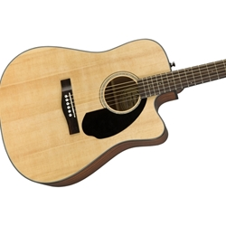 Fender 0970113021 CD-60SCE Dreadnaught Cutaway Acoustic Electric Guitar, Natural